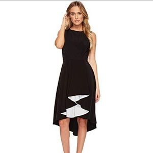 New adelyn Rae black white harla dress high low xs